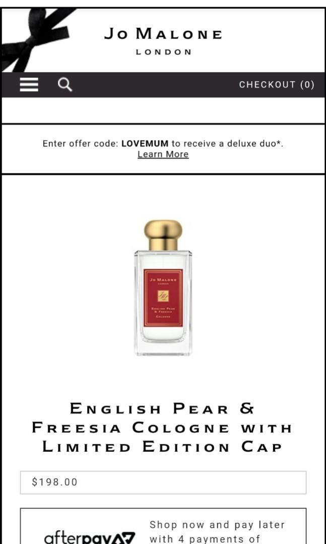 Jo Malone English Pear & Freesia Cologne with Limited Edition Cap