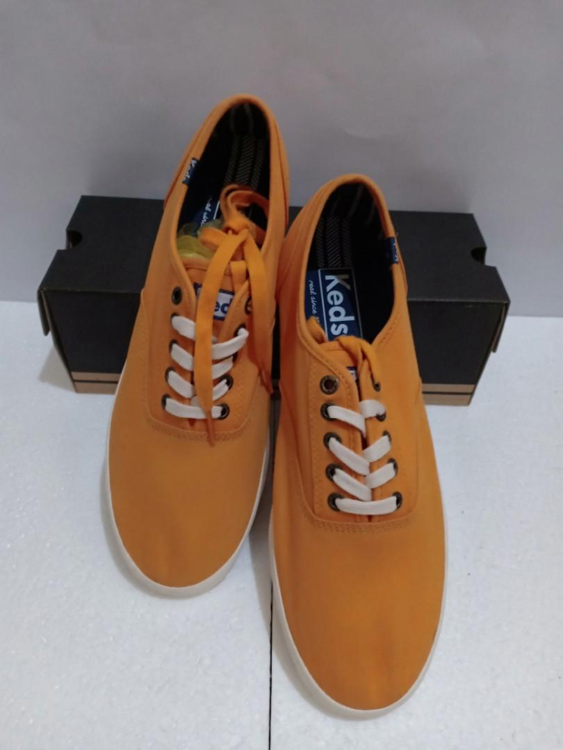 Keds champion solid army trainers orange