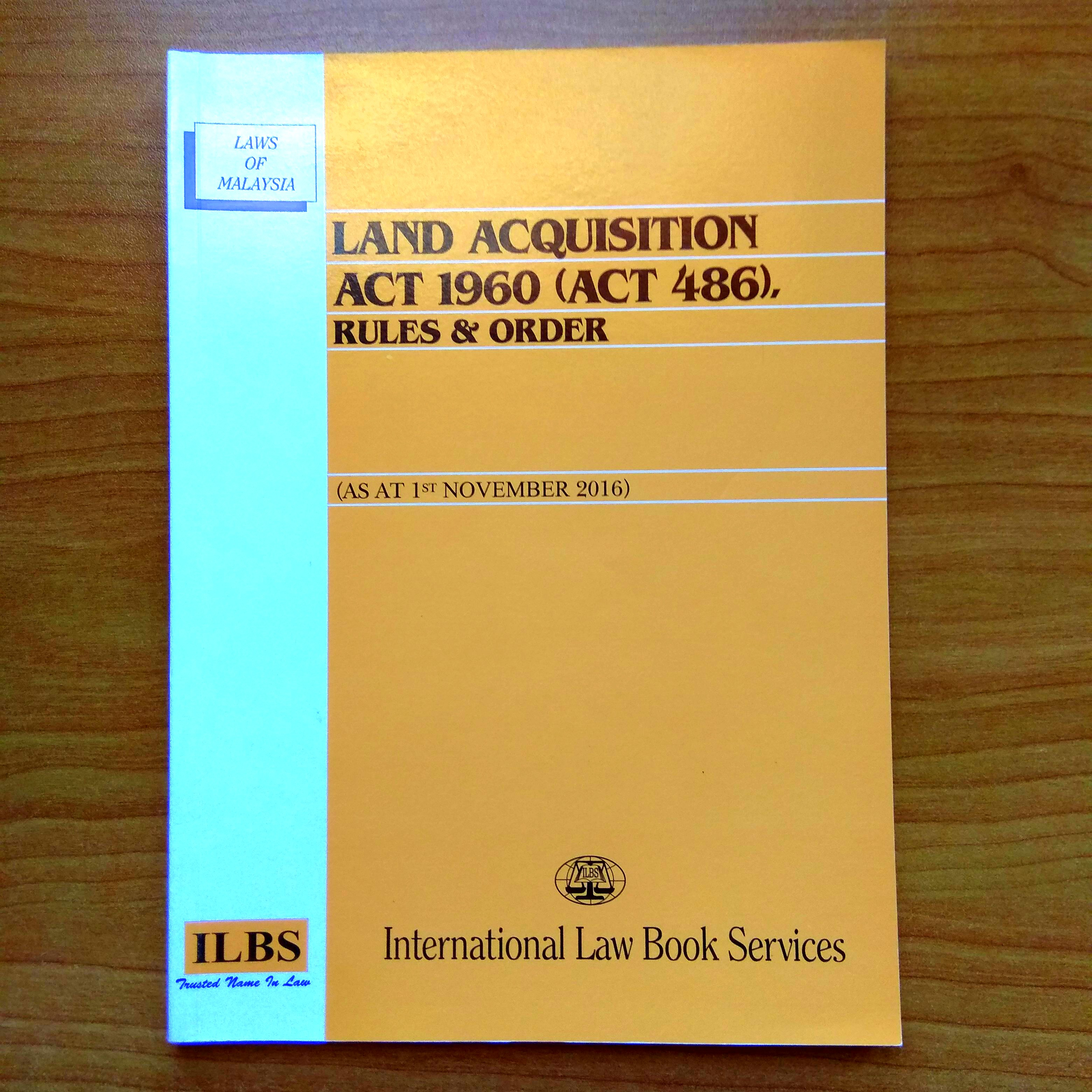 Land Acquisition Act 1960 Law Statute Textbooks On Carousell