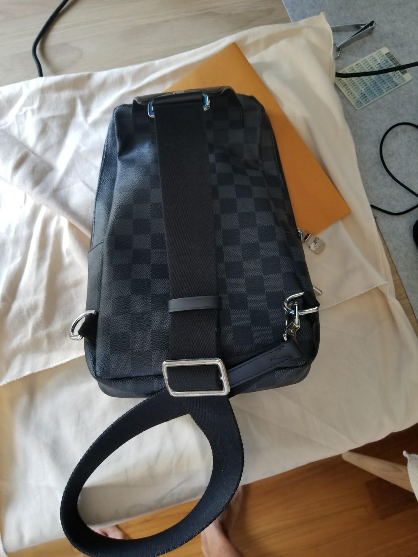 4a15f855d Louis Vuitton Avenue Sling Bag Damier Graphite Canvas N41719, Men's ...