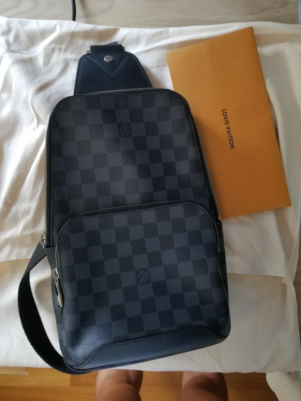 246082f97 Louis Vuitton Avenue Sling Bag Damier Graphite Canvas N41719, Men's ...