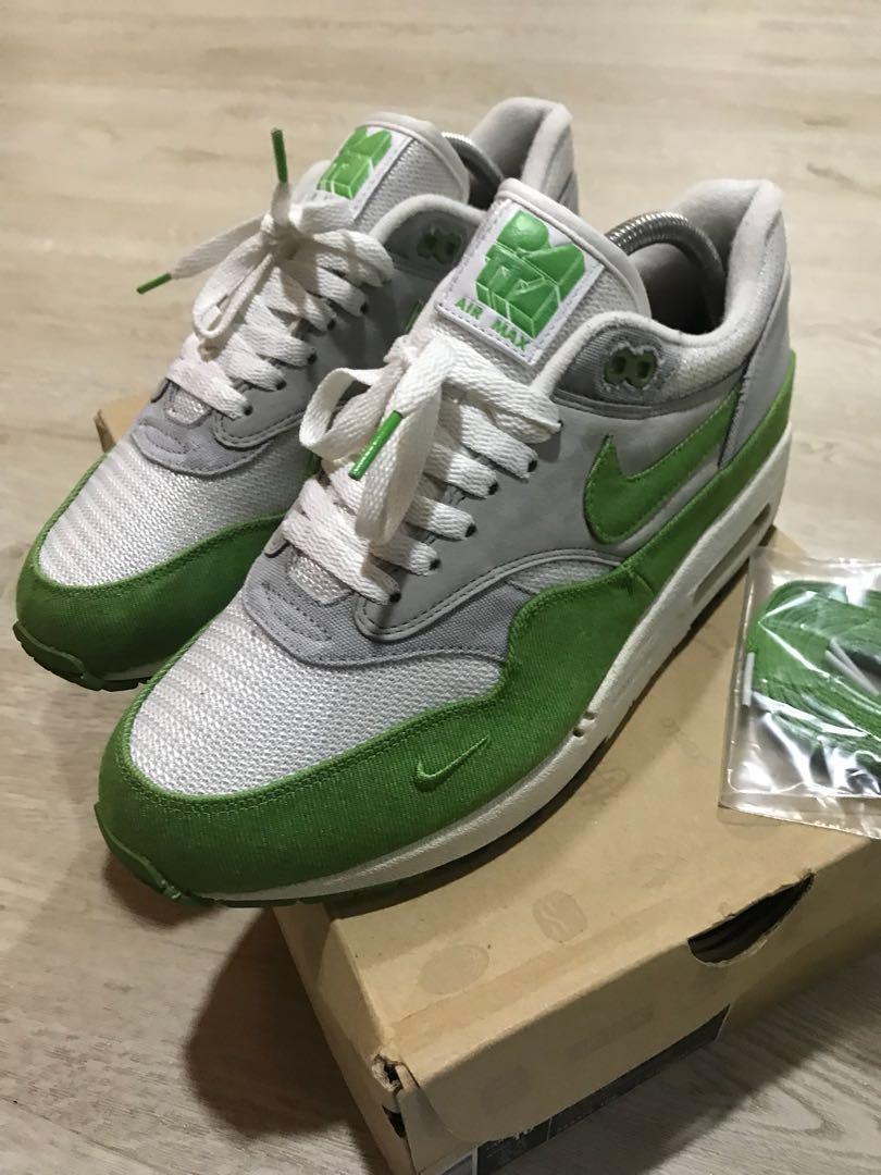 Nike Air Max 1 x Patta Green Chlorophyll us8.5 not