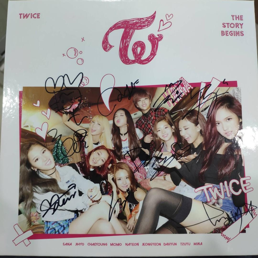 (OFFICIAL FROM MWAVE) *TWICE SIGNED ALBUM* TWICE 1st mini album 'THE STORY BEGINS'