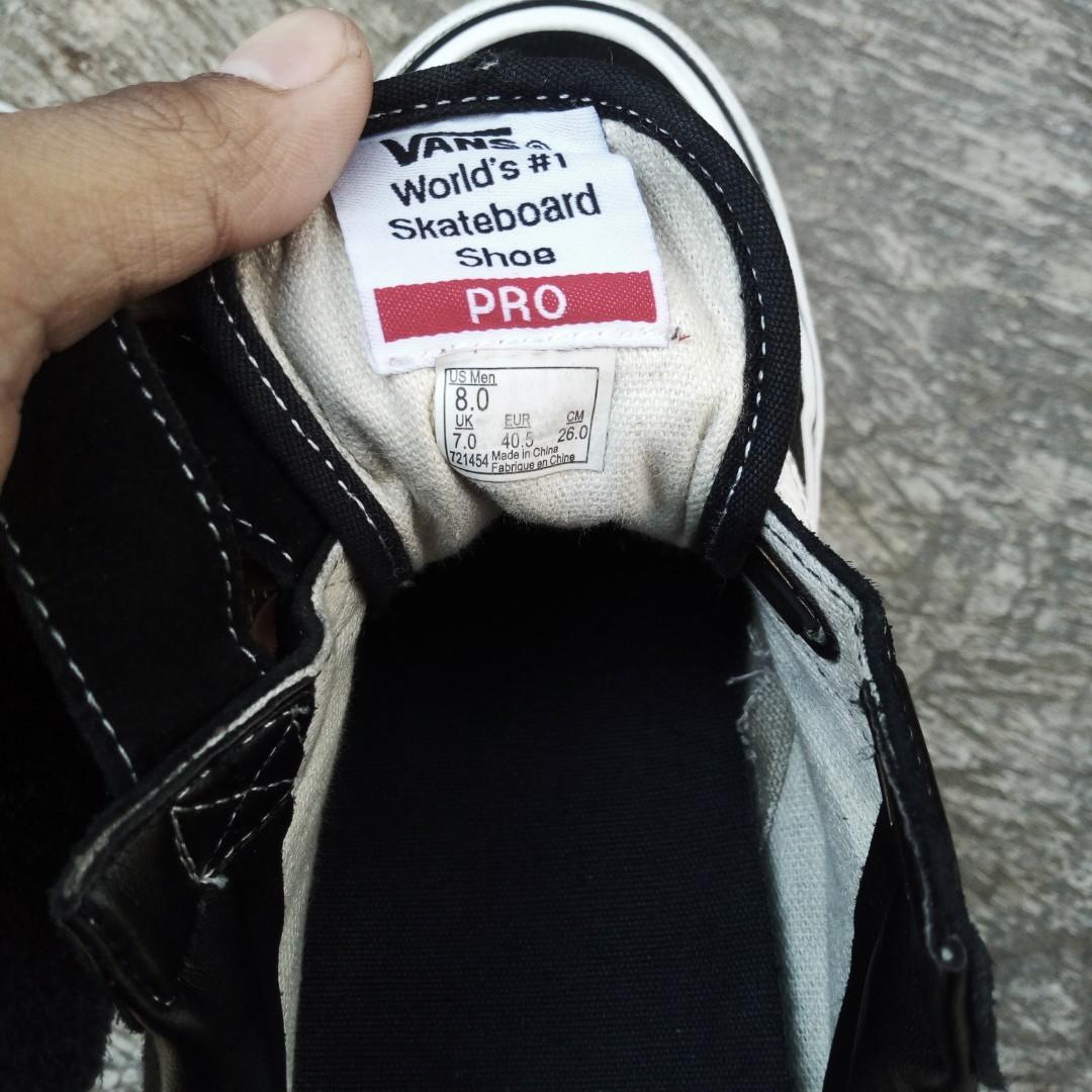 Oldskool Pro Velcro BW