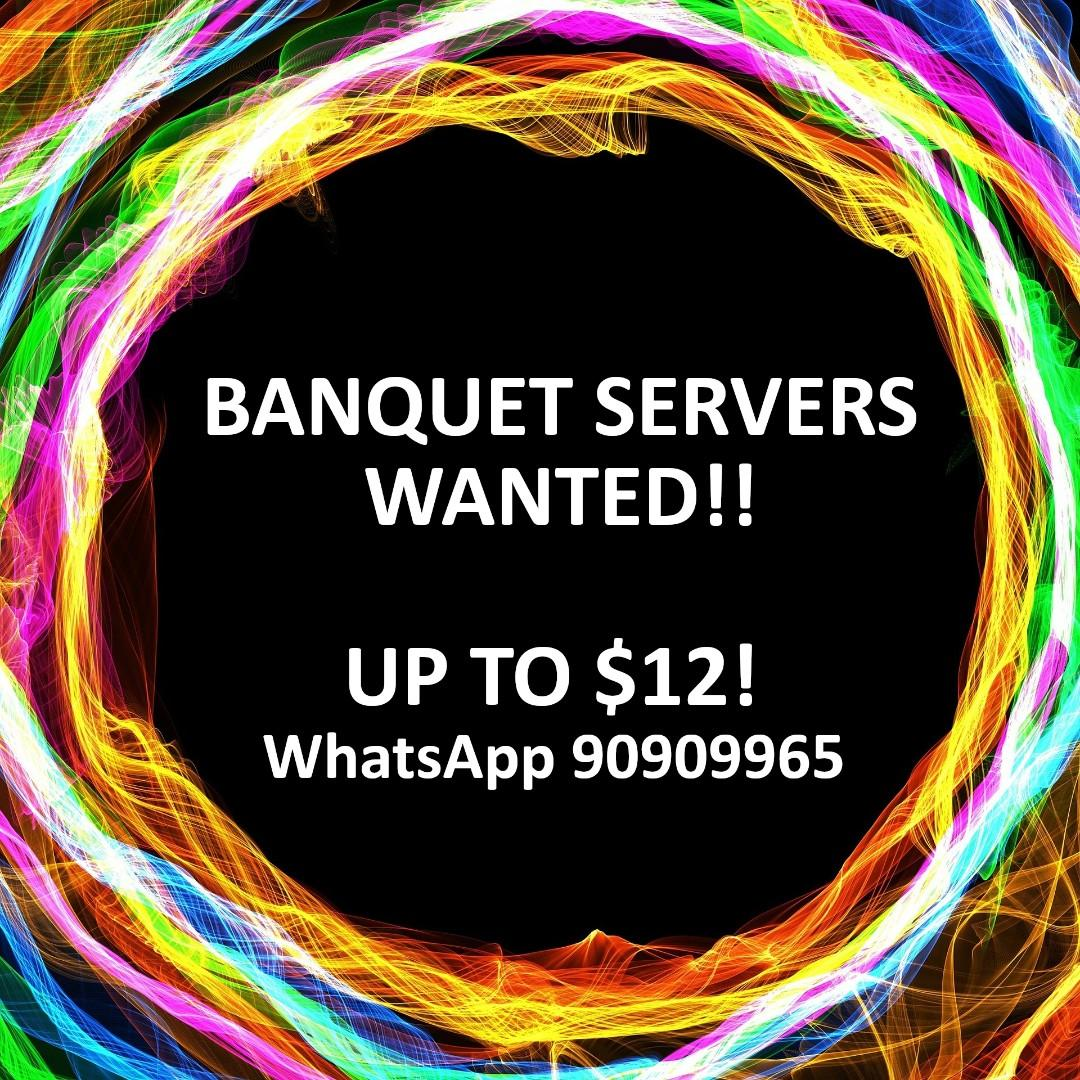Part time Banquet Servers needed! Fast pay!