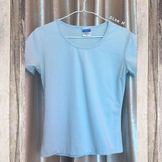 Plain Light Blue T-shirt