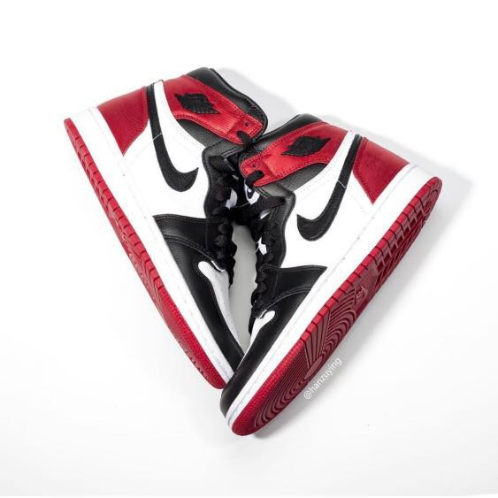 new style 5813f 4f341  PO  Confirmed Pairs Air Jordan 1 Retro High OG Bred Satin Pre-Order, Men s  Fashion, Footwear, Sneakers on Carousell