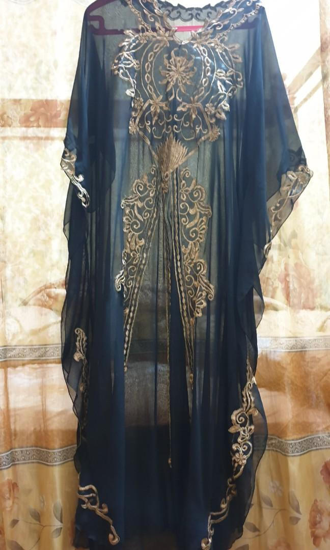 Preloved Baju Gamis Model Kelelawar Fesyen Wanita Muslim Fashion Gaun Di Carousell