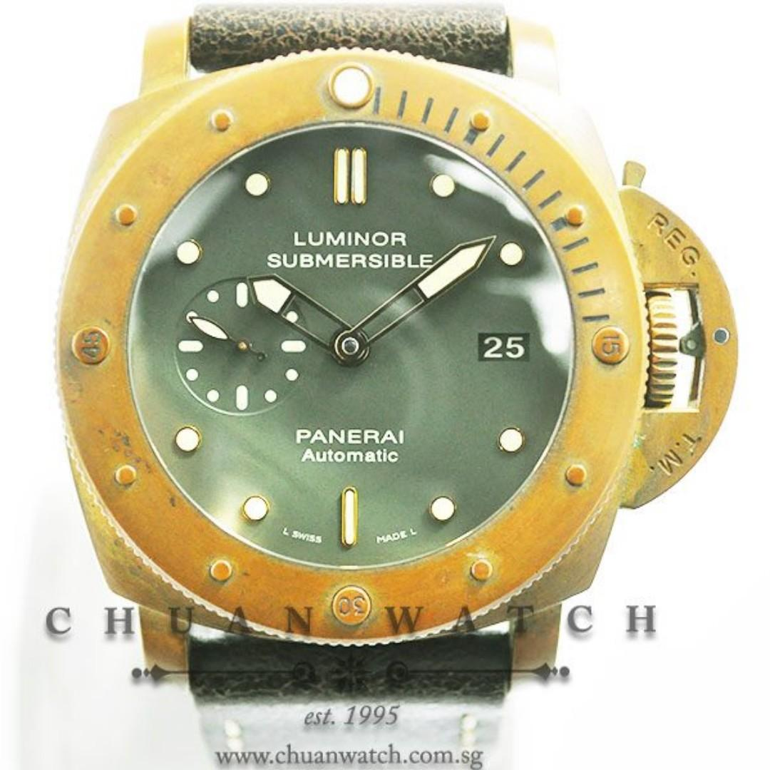 Pre-Owned Panerai Luminor Submersible 1950 3-Days 'Bronzo' 47mm Pam 382 N  (Limited Edition of 1000 Pieces Only)