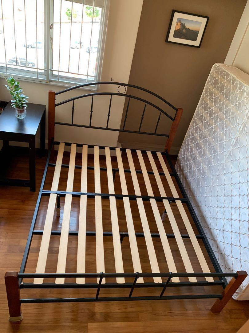Queen Size Bed with Bed Frame