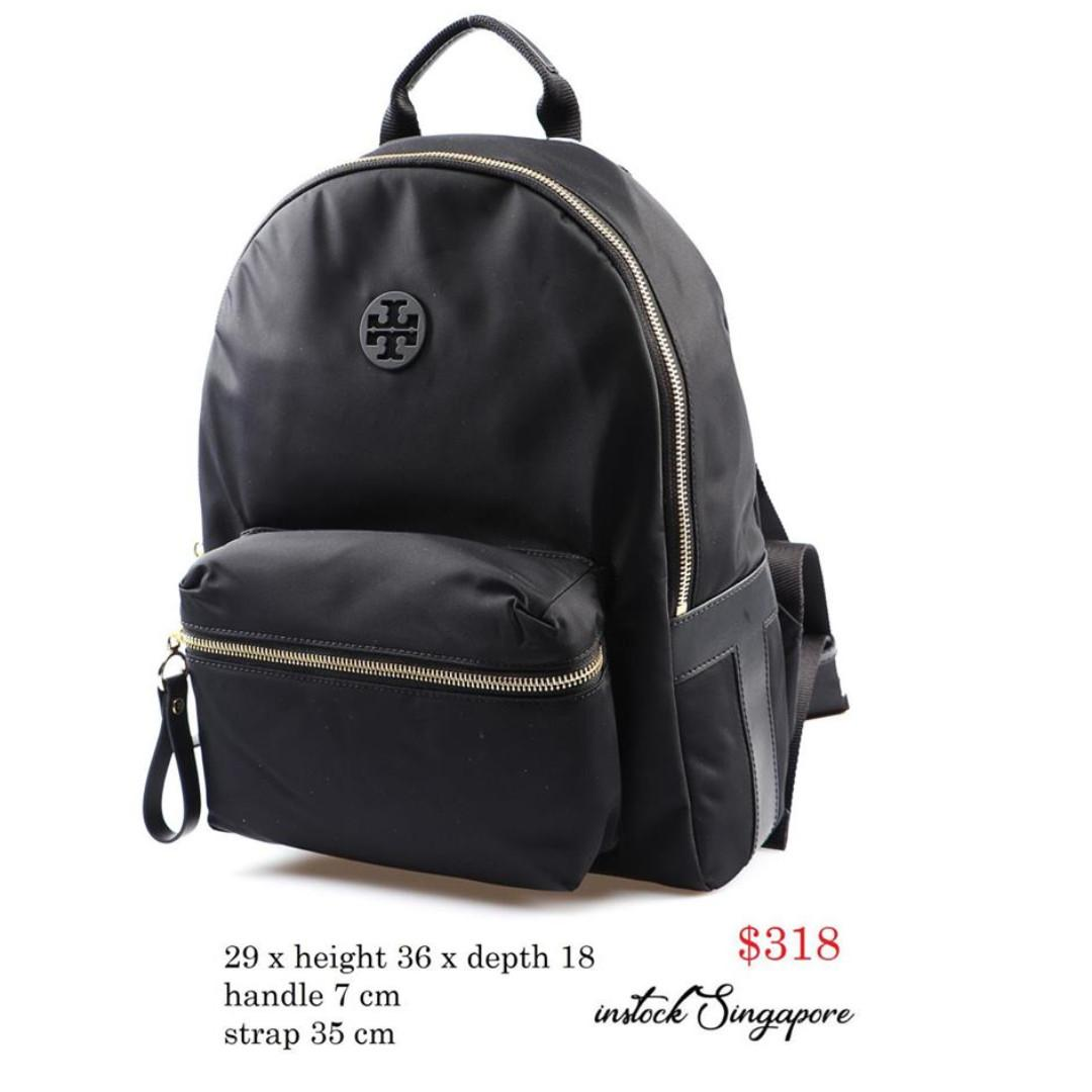 READY STOCK -AUTHENTIC - NEW  Tory Burch TILDA Black Tilda Backpack In Nylon 51329
