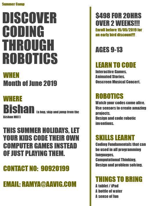 Robotics and coding for kids [ summer camp & regular class ]