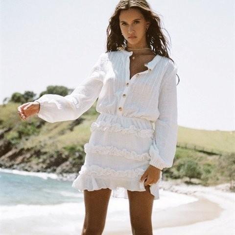 Sabo skirt - size small 8 raw hem ruffle dress BNWT sold out $98