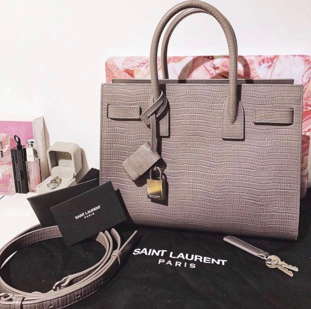 3b803ef9879 Saint Laurent Baby Sac De Jour Embossed Calfskin Leather, Luxury ...