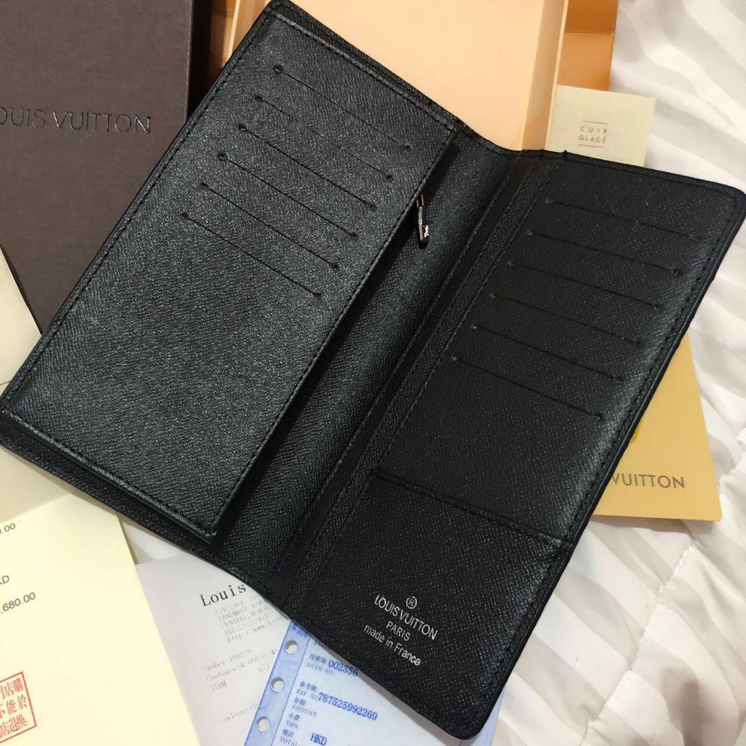 Louis Vuitton Brazza Damier Graphite Long Wallet Complete Set (Mirror 1:1) dompet pria wanita unisex