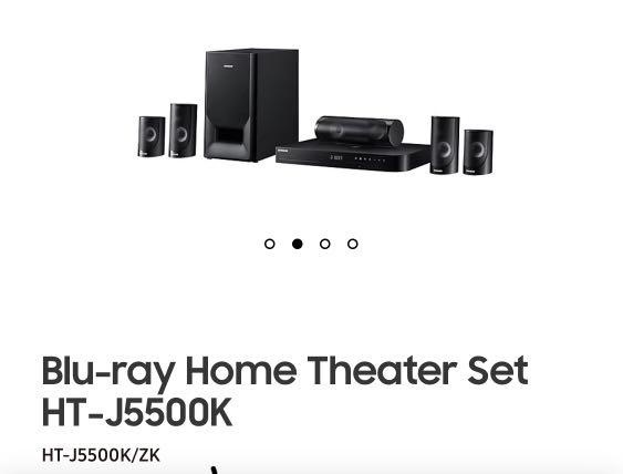 Electronics Theatre Ht-j5500k Samsung Audio System Carousell Home On