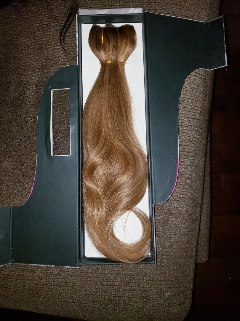 She beyond the beauty flip n go halo extensions human hair on a wire 16-18inches