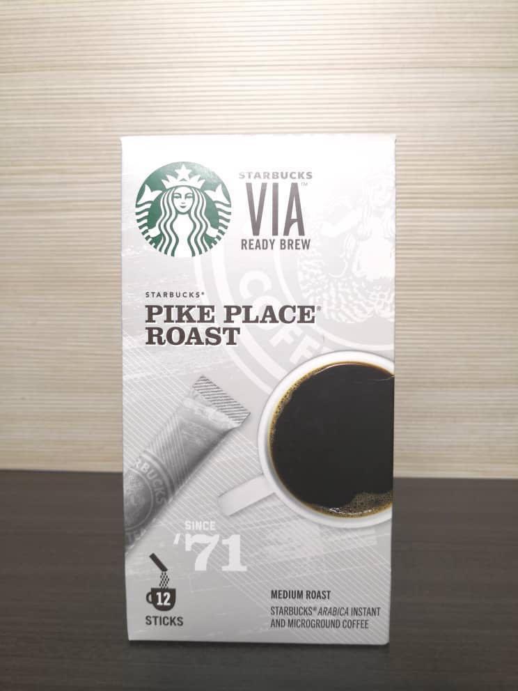 "Starbucks pike place since 71"" arabica medium roast instant coffee"