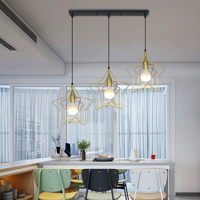 Starry hanging pendant lights