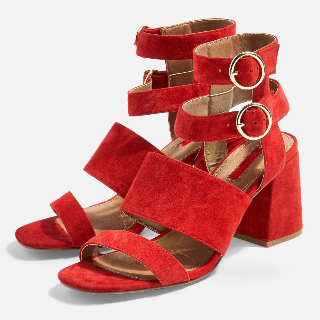 TOPSHOP nevada multi-strap heels
