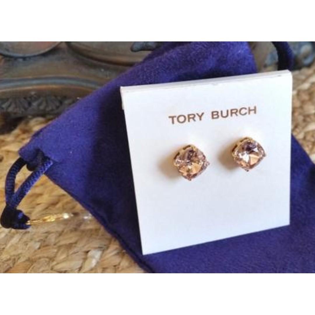 3d4bcc31ef2 Tory Burch Rose Gold Swarovski Crystal Earrings, Luxury, Accessories ...