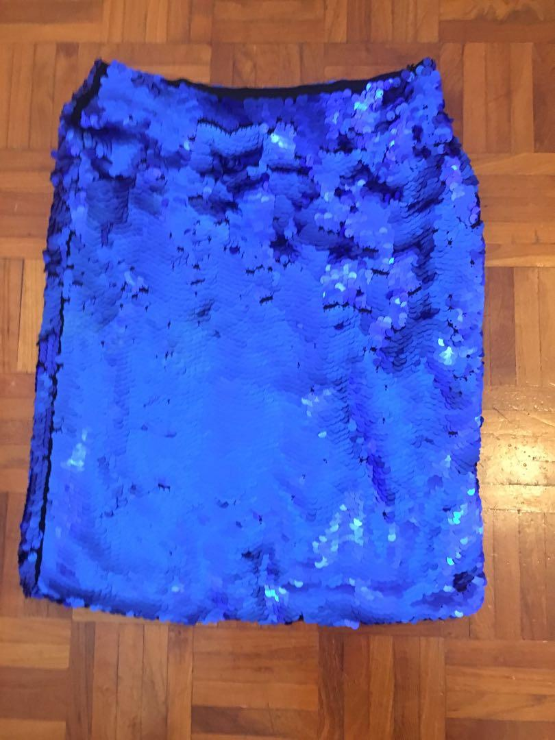 Zara COLLECTION SIZE M fits 10-12 Sequin Skirt never worn!