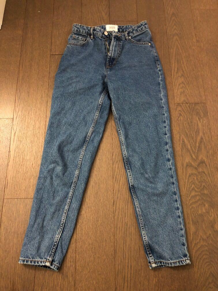 Zara Mom Jeans in BLUE