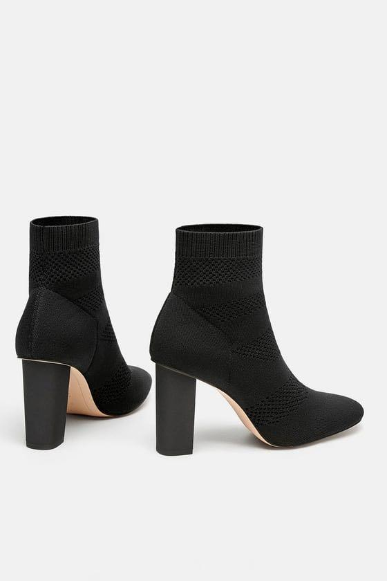 Zara Perforated Sock Boots, Women's