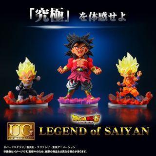 日版 魂商店限定 UG 七龍珠 LEGEND OF SAIYAN 賽亞傳說 全3種 超4 布羅利 孫悟空 達爾