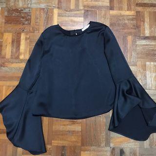 MANGO Bell Sleeve Top