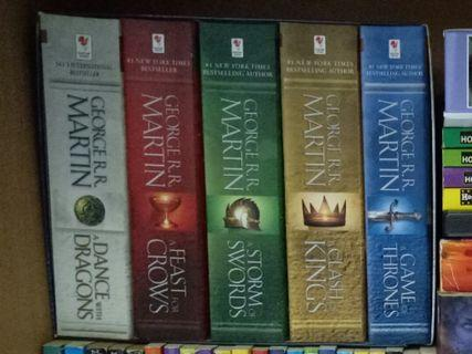 Game Of Thrones 5 Books Set by George R. R. Martin