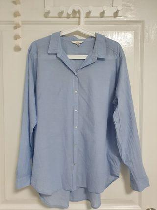 🚚 H&M Oversized Shirt Light Blue