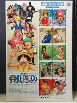 平城23年 絕版海賊王郵票(有印) one piece stamp