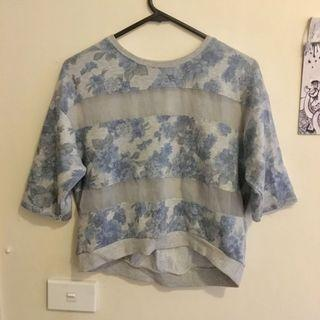 Pull & bear  sheer floral shirt