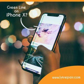 ✅Home Repair. iPhone X LCD screen repair iPhone X Green Line