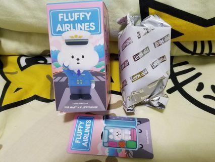 全新未拆袋 Popmart Mr. White Cloud Series 5 Fluffy Airlines 白雲航空 散款 Suitcase Rabbit 行李箱摀蛋兔