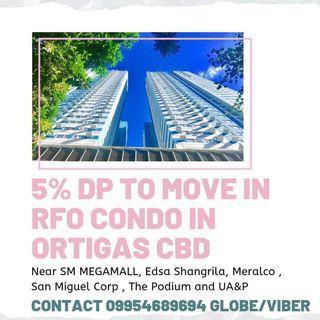 5% down to move in studio condo in Ortigas near Mandaluyong