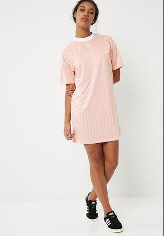 2ded567981c Adidas Trefoil T Shirt Dress  Pink