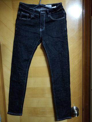 Black jeans silm fit cut size 29