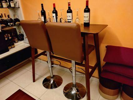 Table bar with 2 seats