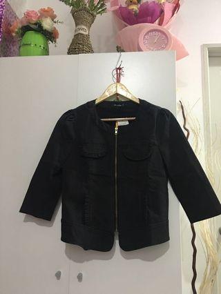 Black Jacket Jaket Hitam Paras Lengan (New)