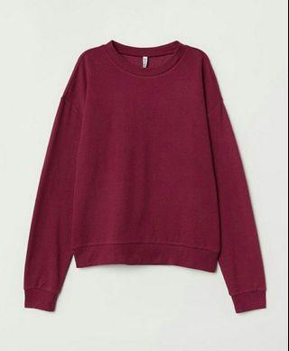 H&m sweatshirt maroon