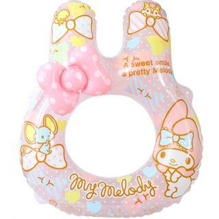 (Free Delivery) Sanrio My Melody Rabbit Head Shape Adult Large Inflatable Swimming Ring Float