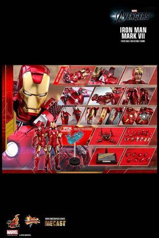 Hot toys ironman mark 7 合金