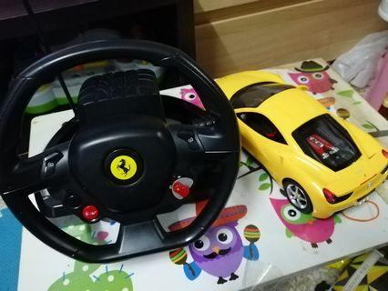 Ferrari 458 italia with steering wheel controller