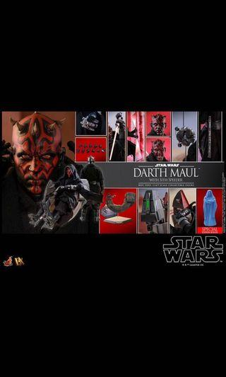 Hot toys star wars darth maul & speeder