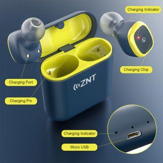 ZNT D06-A True Wireless Stereo Earbuds Bluetooth Sports Earphone with Bluetooth 5.0 and Hi-Fi Sound Quality-Army Green