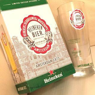 💢喜力限定💢 HEINEKEN BIER AMSTERDAM 1873 LIMITED EDITION GLASS 喜力 限量版 紀念玻璃杯