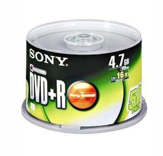 💿 Sony 4.7 GB Recordable DVD+R Spindle