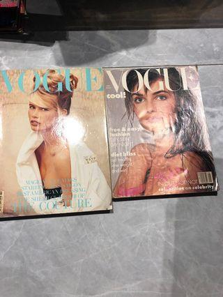 Vougue 1980's Vintage Magazines - 2 pcs
